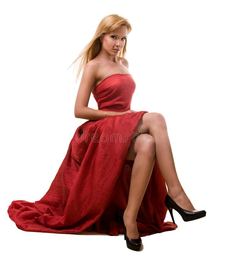 Beauty women in red stock images
