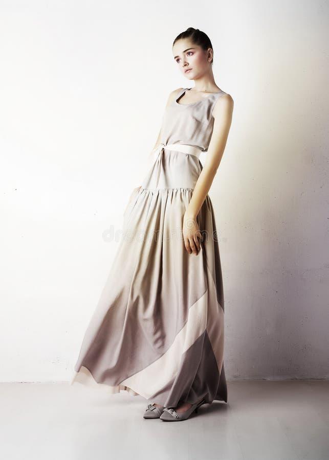 Beauty yong girl posing in studio royalty free stock photo