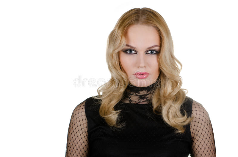 Beauty Young Blond Woman Royalty Free Stock Image