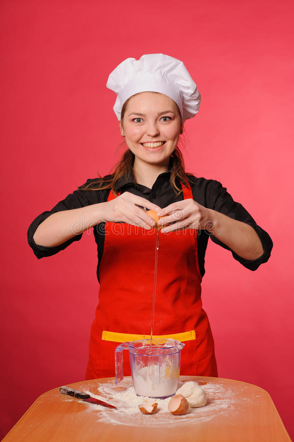 Download Beauty young cook stock image. Image of bakehouse, female - 24144949