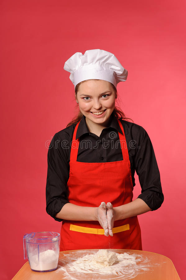Download Beauty young cook stock photo. Image of chef, attractive - 25509698