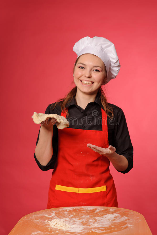 Download Beauty young cook stock photo. Image of person, attractive - 25509708