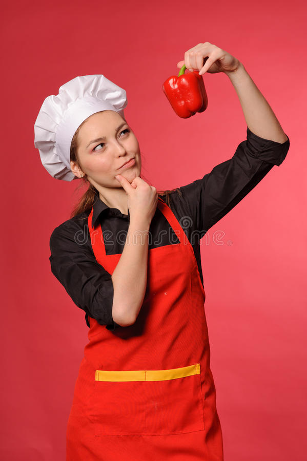 Download Beauty young cook stock photo. Image of beauty, occupation - 25509712