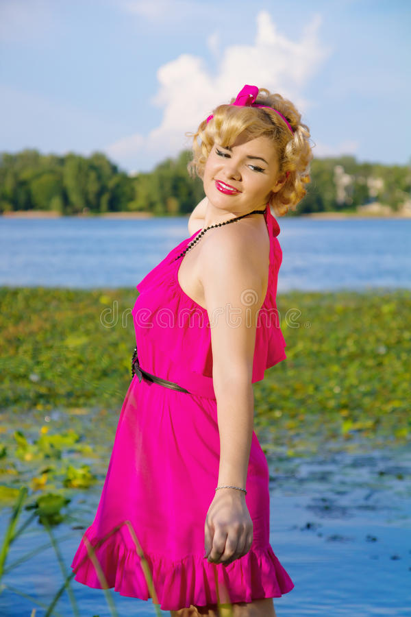 Download Beauty young pin-up woman stock image. Image of female - 26381101