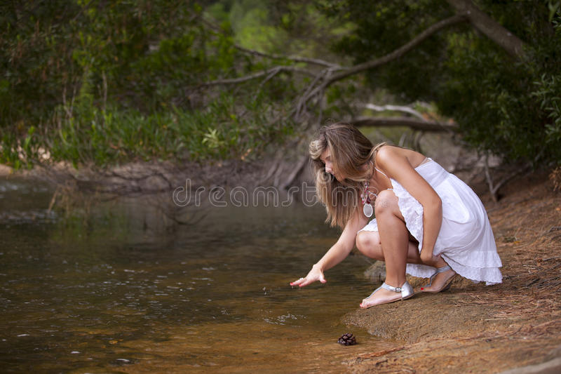 Beauty Young Woman Stock Images