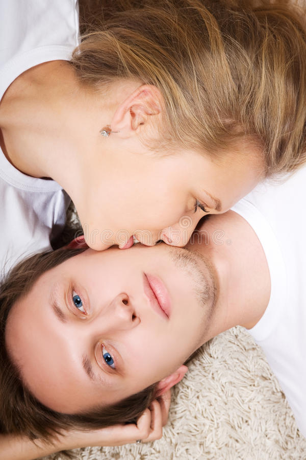 Download Beauty Young Woman Kiss A Man Stock Image - Image: 11882465