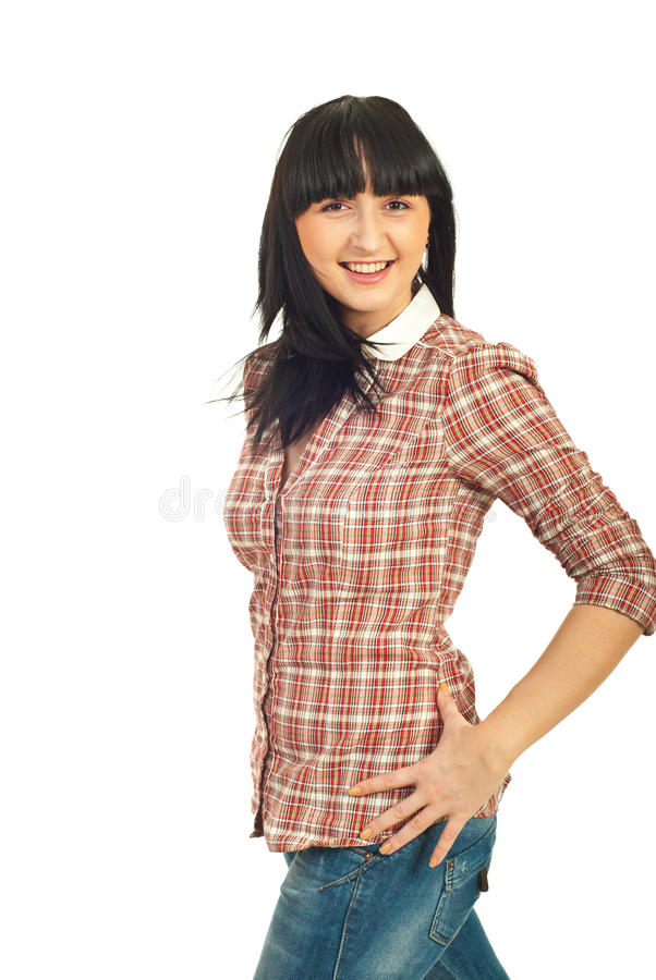Beauty Young Woman Moving Stock Photography