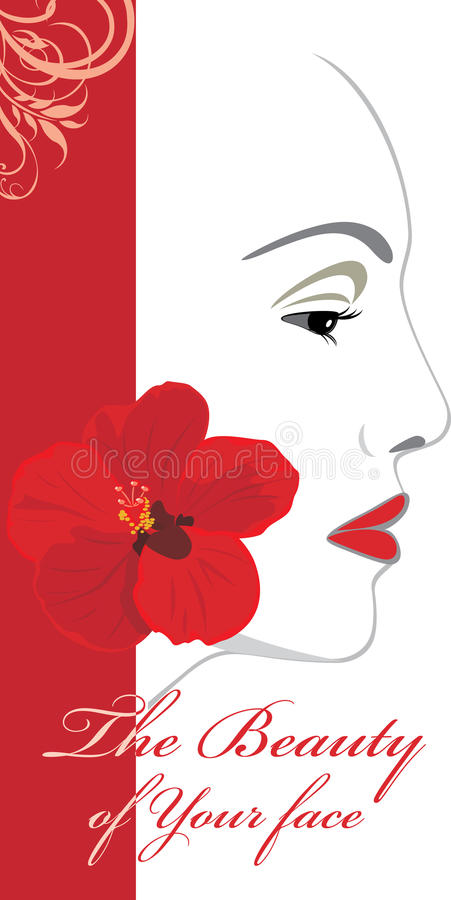 The Beauty Of Your Face. Icon For Design Stock Images