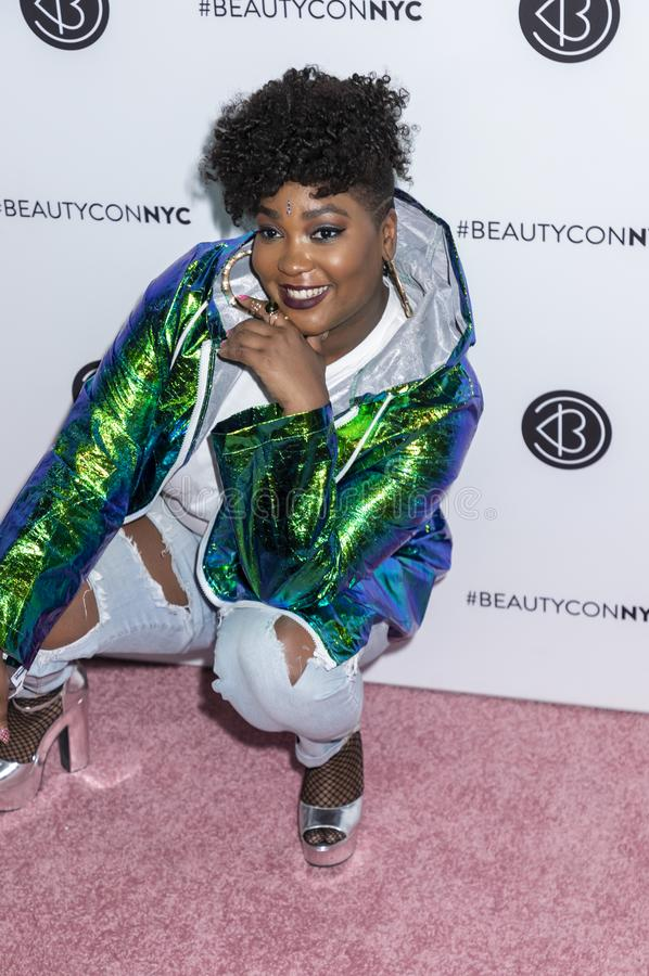 Beautycon Festival 2018. New York, NY, USA - April 21, 2018: Tiff McFierce attends Beautycon Festival NYC 2018 at Jacob K. Javits Convention Center, Manhattan royalty free stock images
