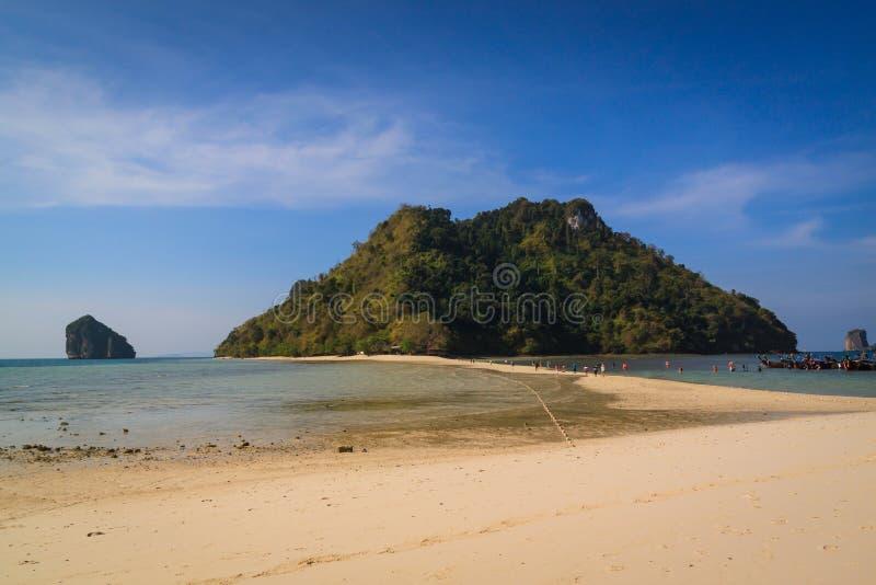 Beautyful island and twin sea beach , Krabi Thailand royalty free stock photography