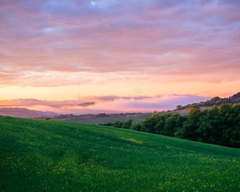 Beautyful Tuscany, panorama- landskap - Italien royaltyfri bild