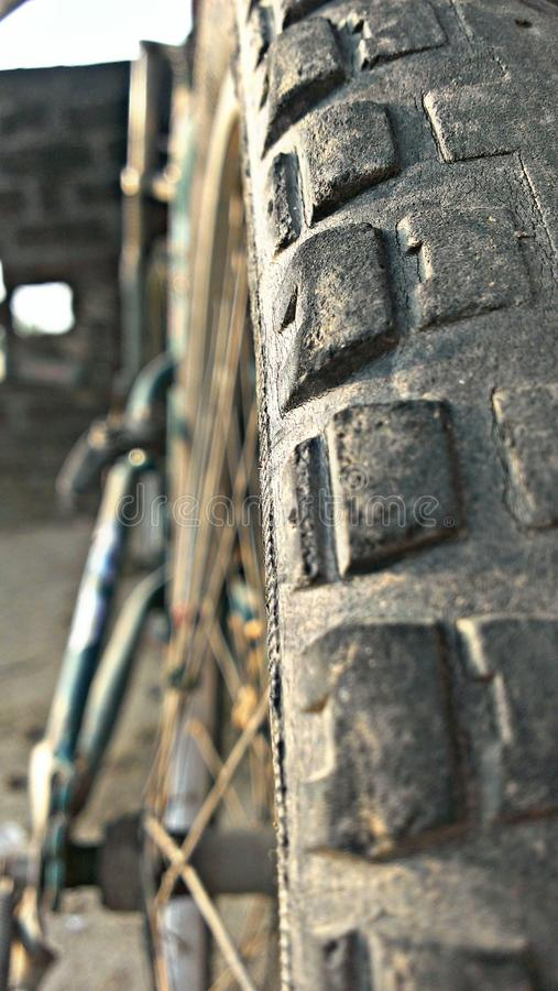 Beautyful view of cycle tire stock photo