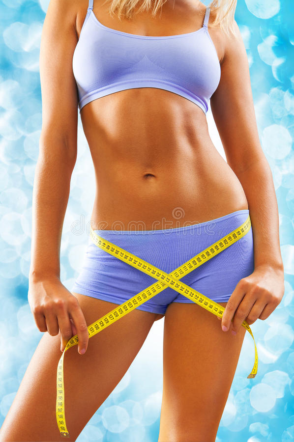 Download Beautyful Woman Body With Measure Tape Stock Image - Image: 26761955