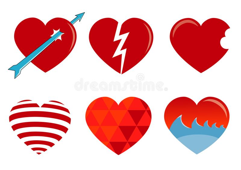 Beautiful love icon royalty free stock photo