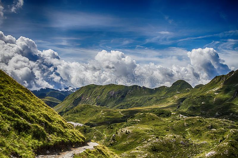Beautyfull mountain landscape. Alps montains in Bagolino, province of Brescia, Italy.  royalty free stock photo