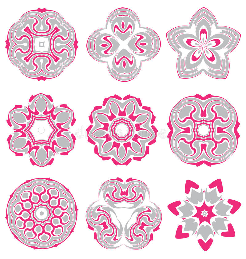 Download Beaux éléments Abstraits Colorés De Fleur Illustration de Vecteur - Illustration du beau, carte: 45372038