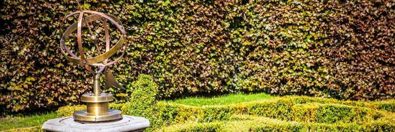 Beaux éléments néerlandais de parc de ville en gros plan Panorama image stock