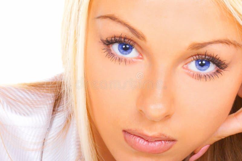 Beaux œil bleu photographie stock libre de droits