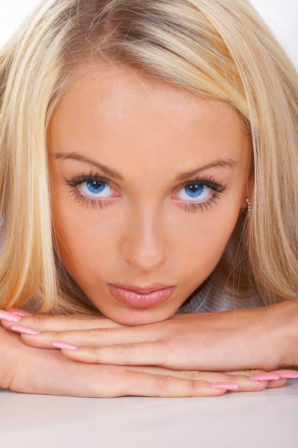Beaux œil bleu photos libres de droits