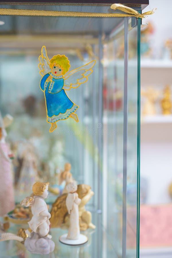 Beaux anges dans la vue baroque de Varazdin de ville, destinat de touristes image libre de droits