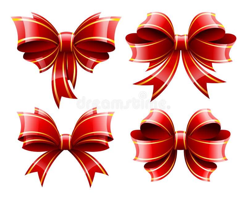 Beaux baws rouges de cadeau illustration de vecteur