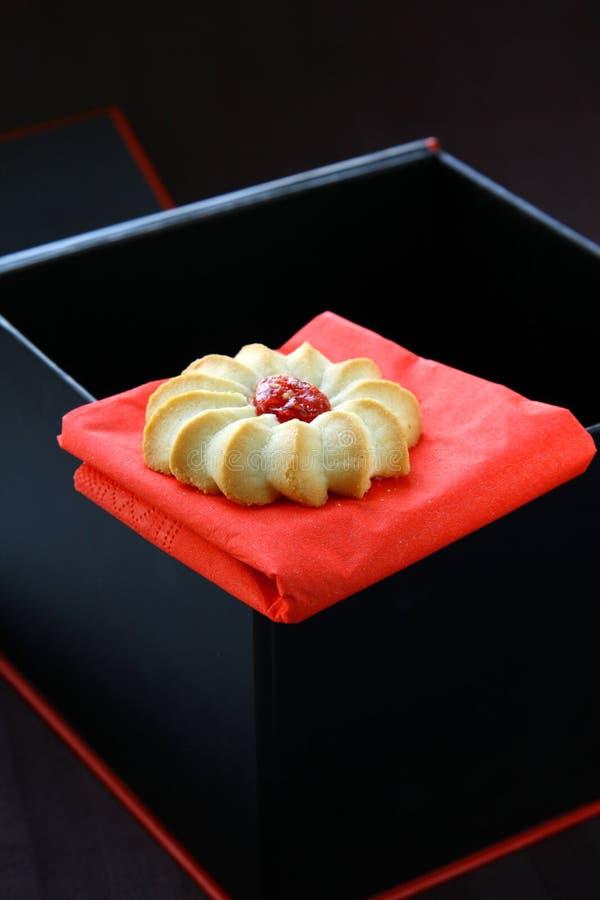 Beaux biscuits avec le bourrage photo stock