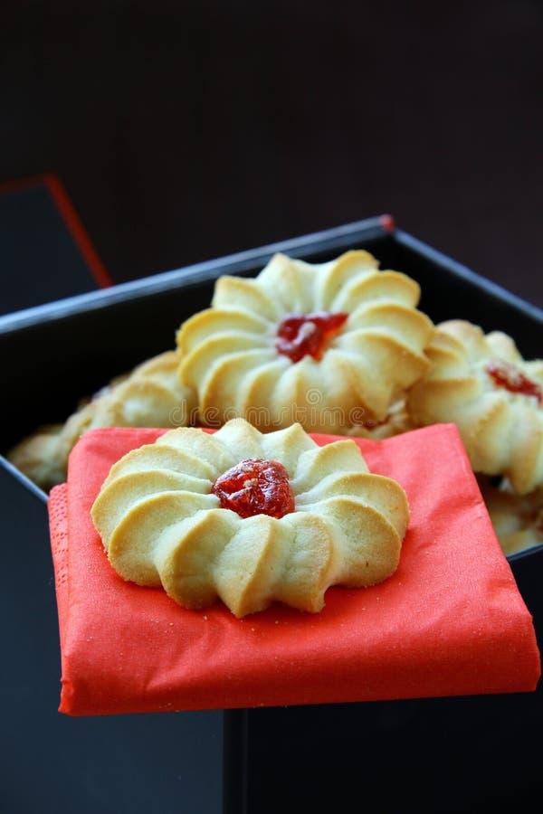 Beaux biscuits avec le bourrage image stock