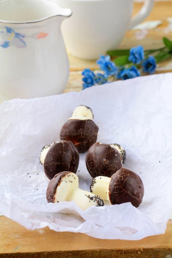 Beaux biscuits comme champignons de couche photographie stock libre de droits