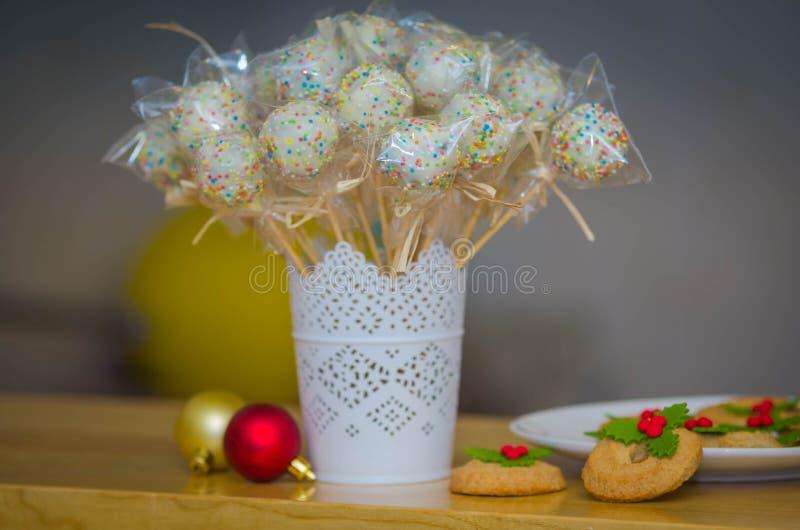 Beaux bruits de gâteau de vacances de Noël images libres de droits