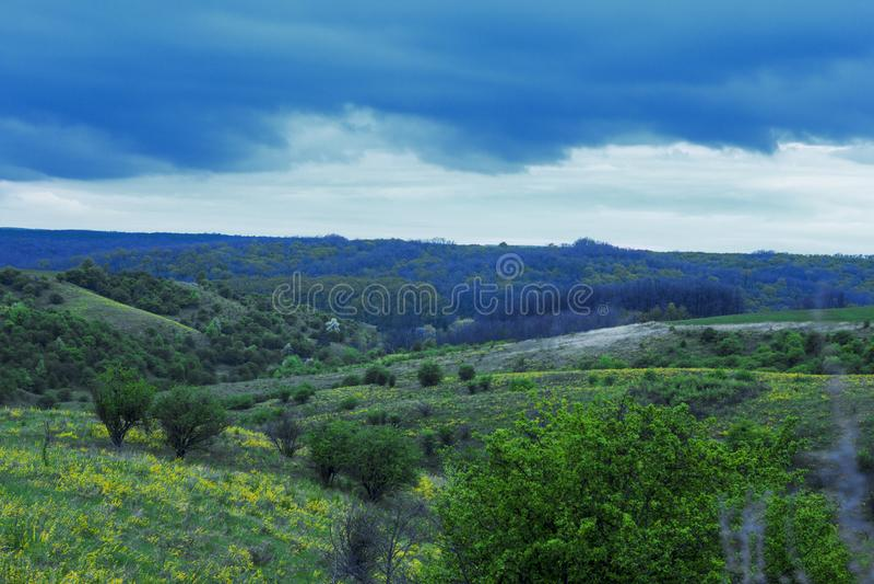 beaux champs ukrainiens fertiles photos stock