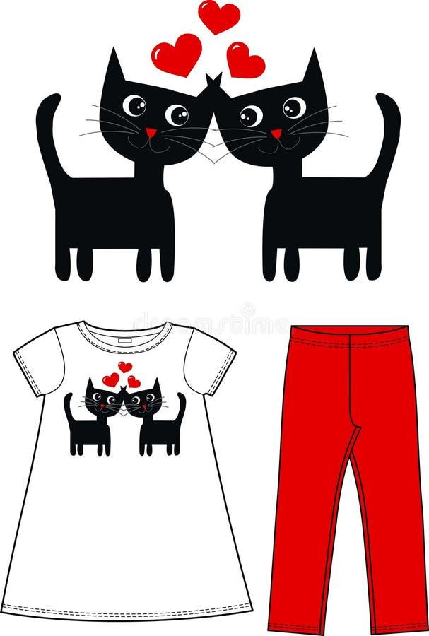Beaux chats illustration libre de droits