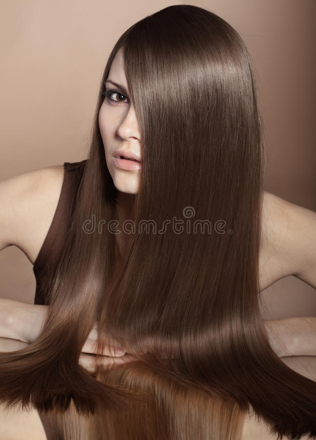 Beaux cheveux photo stock