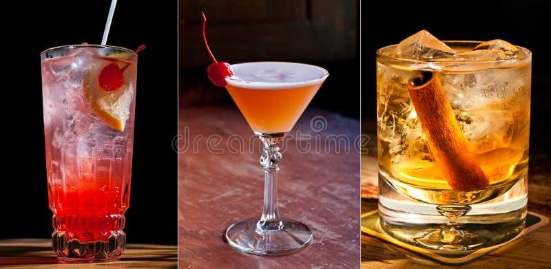 3 beaux cocktails classiques photos stock