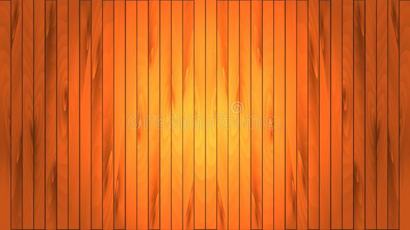 Beaux conseils bruns en bois naturels luxueux avec des noeuds, des coutures et la texture en bois plancher verni planked, parquet illustration de vecteur