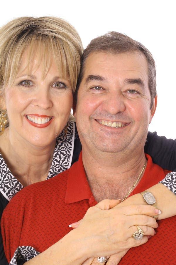 Beaux couples âgés moyens images stock