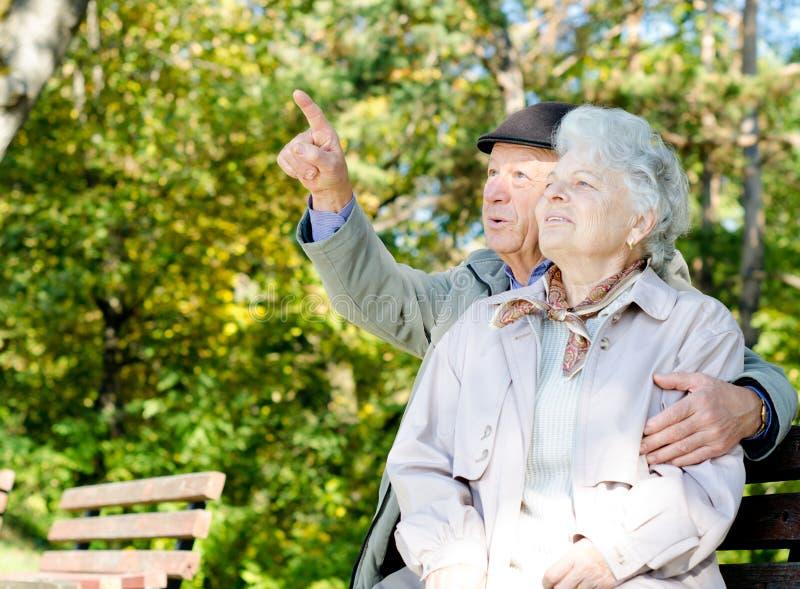 Beaux couples aînés photo stock