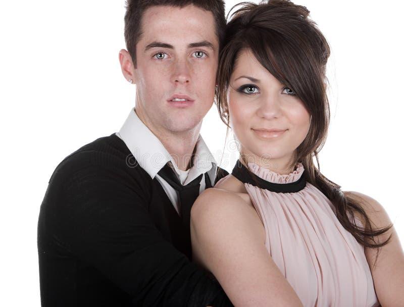 Beaux couples d'adolescent photo libre de droits