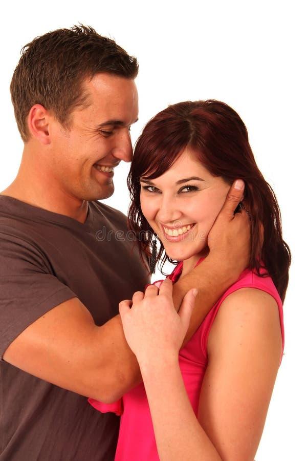 Beaux couples d'embrassement photo libre de droits