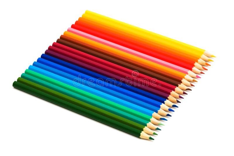Beaux crayons de couleur images libres de droits