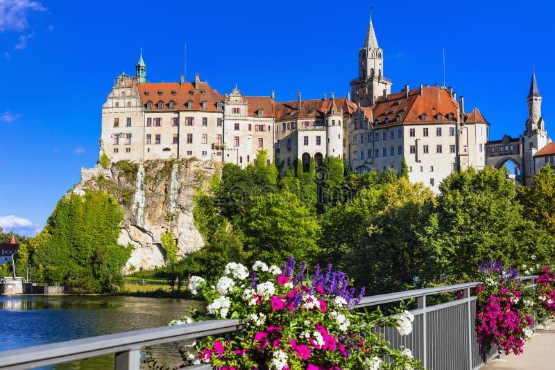 Beaux endroits de ville de Gremany - de Sigmaringen avec c impressionnant image stock