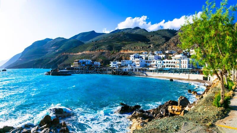 Beaux endroits en Crète - petit village de pêche imagé Chor photographie stock libre de droits