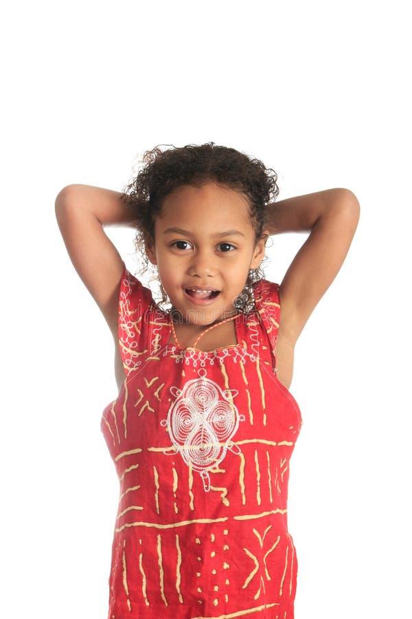 Beaux enfants afro-américains de fille avec c noir photo stock