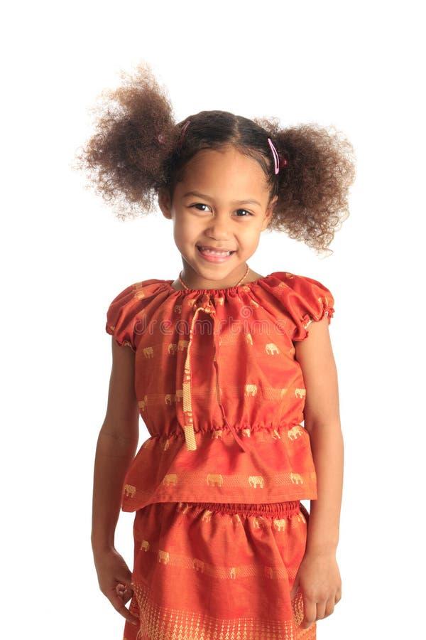 Beaux enfants afro-américains de fille avec c noir image libre de droits