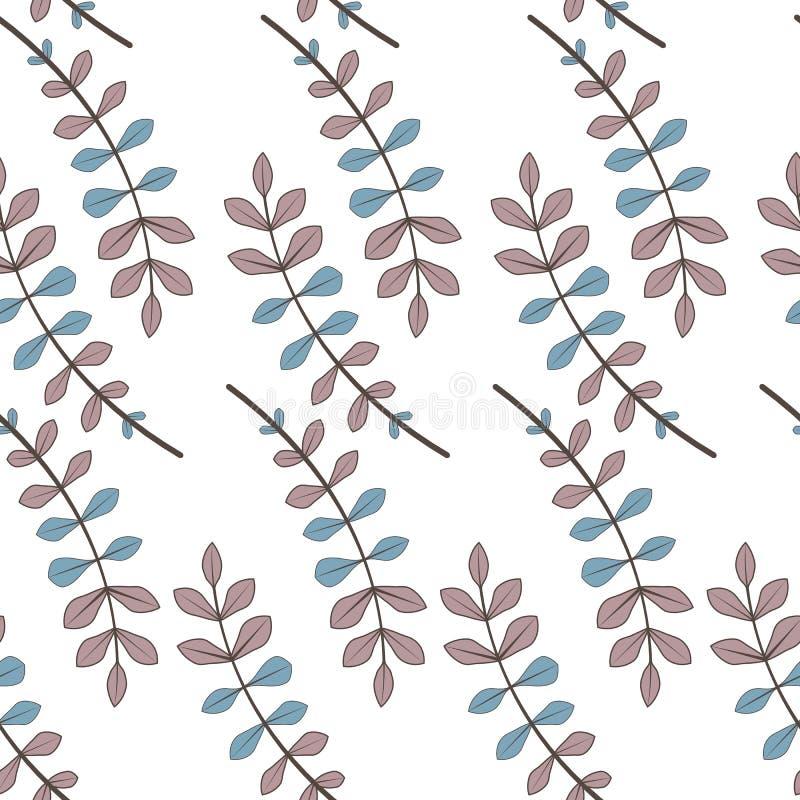 Beaux et élégants bourgeon floraux sur le fond blanc Configuration sans joint de vecteur avec des fleurs conception de tissu d'aq image stock