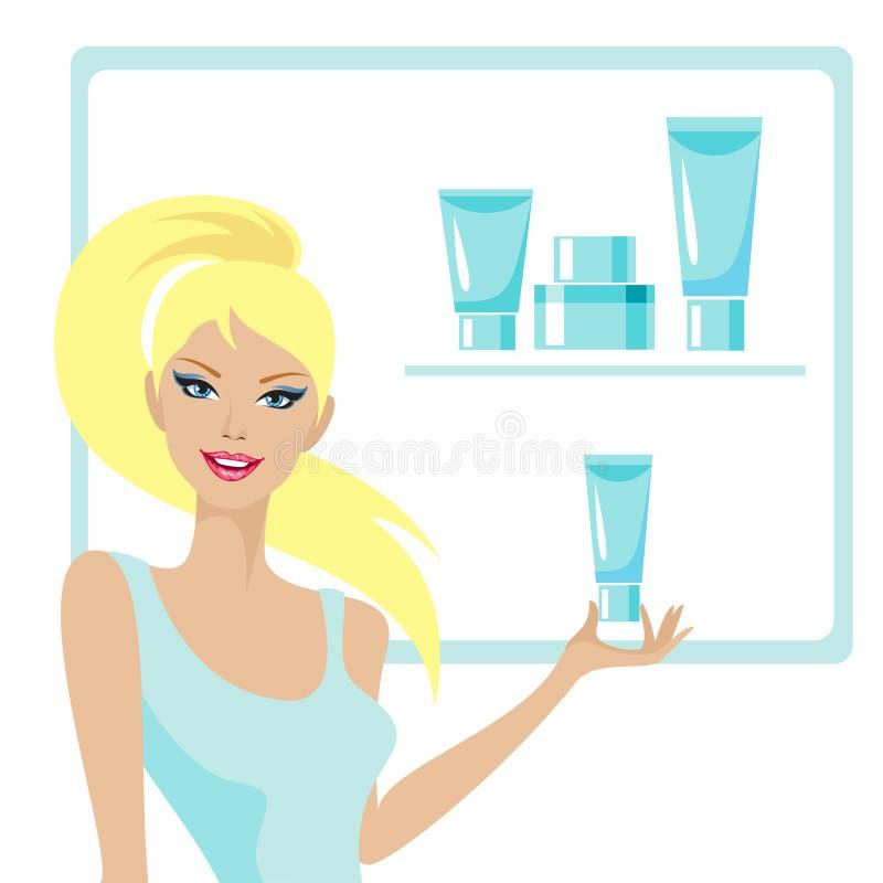 Beaux fille et cosmétique illustration libre de droits