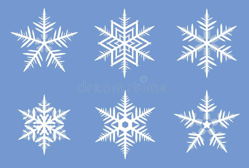 Beaux flocons de neige. photographie stock libre de droits