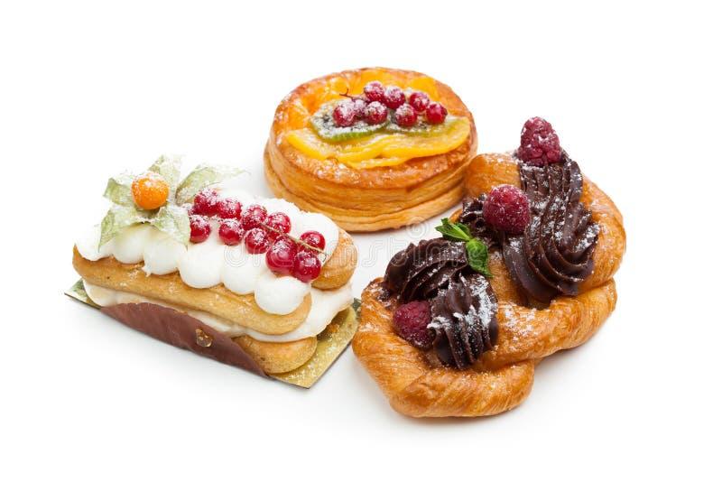 Beaux gâteaux de pâtisserie photo libre de droits