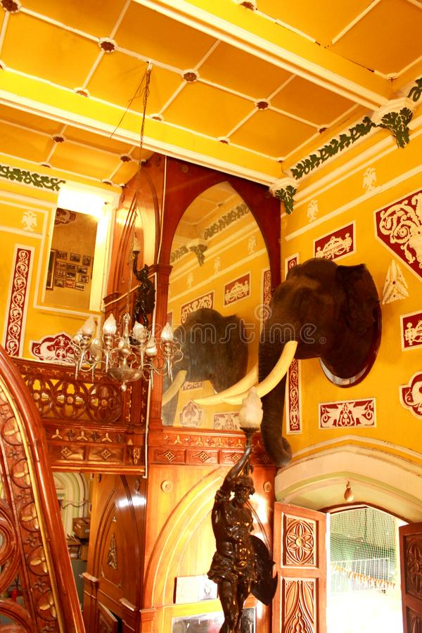 Beaux intérieurs du palais de Bangalore image libre de droits