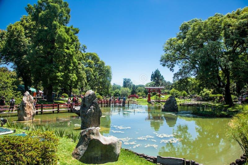 Beaux jardins japonais de PaThe Buenos Aires à Buenos Aires l'argentine photographie stock libre de droits