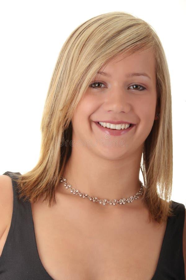 beaux jeunes blonds d'adolescente de fille photo libre de droits